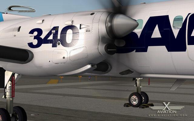 saab 340a x-plane