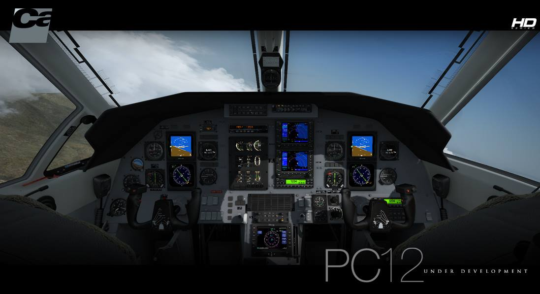 Carenado pc12 inside simflight nl for Interieur u arena