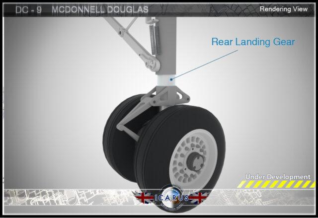 DC9 landing gear Icarus