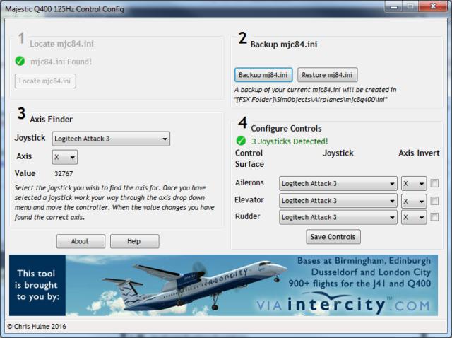 majestic q400 125hz control config