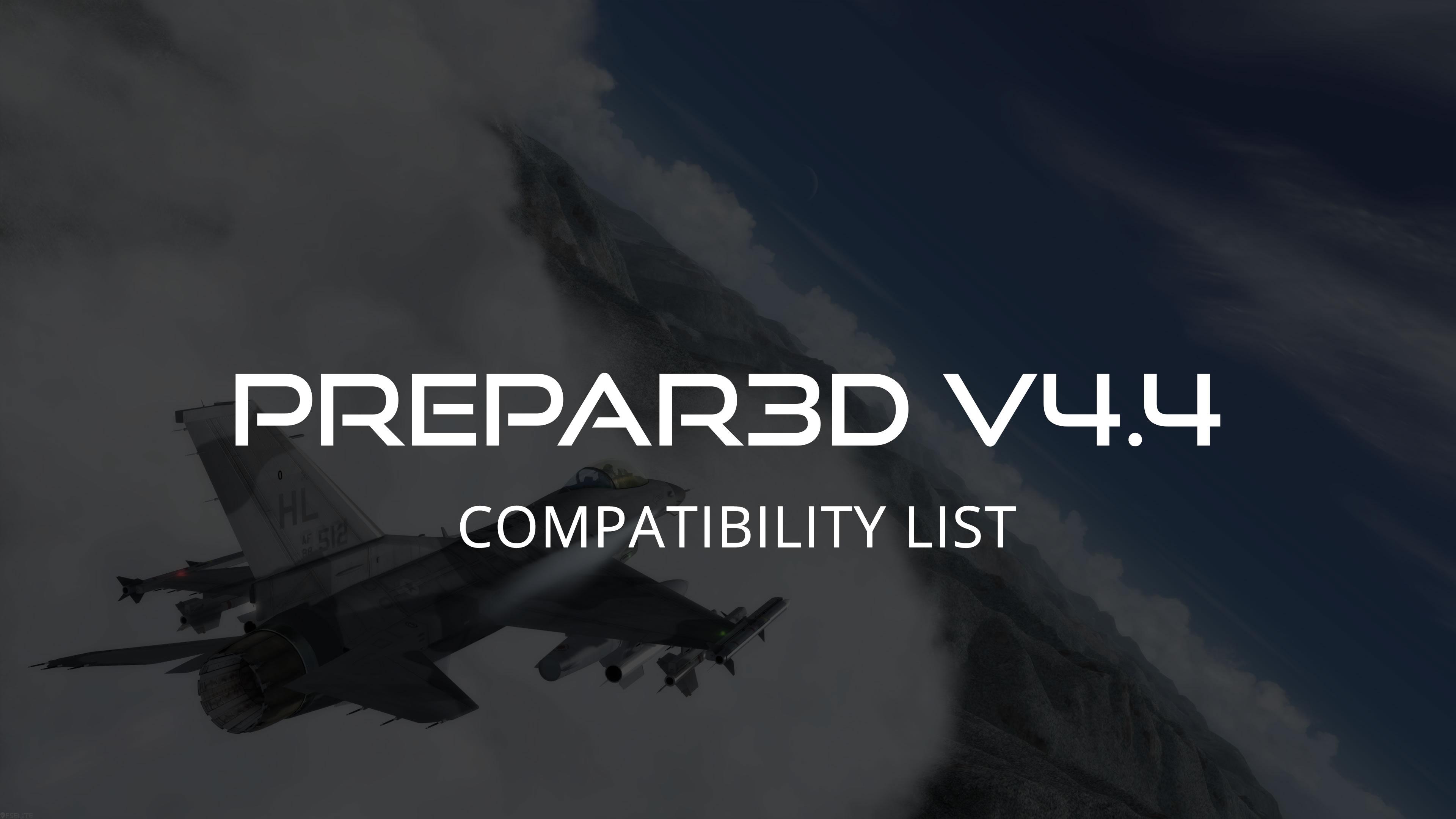 Prepar3D V4 4 addon lijst