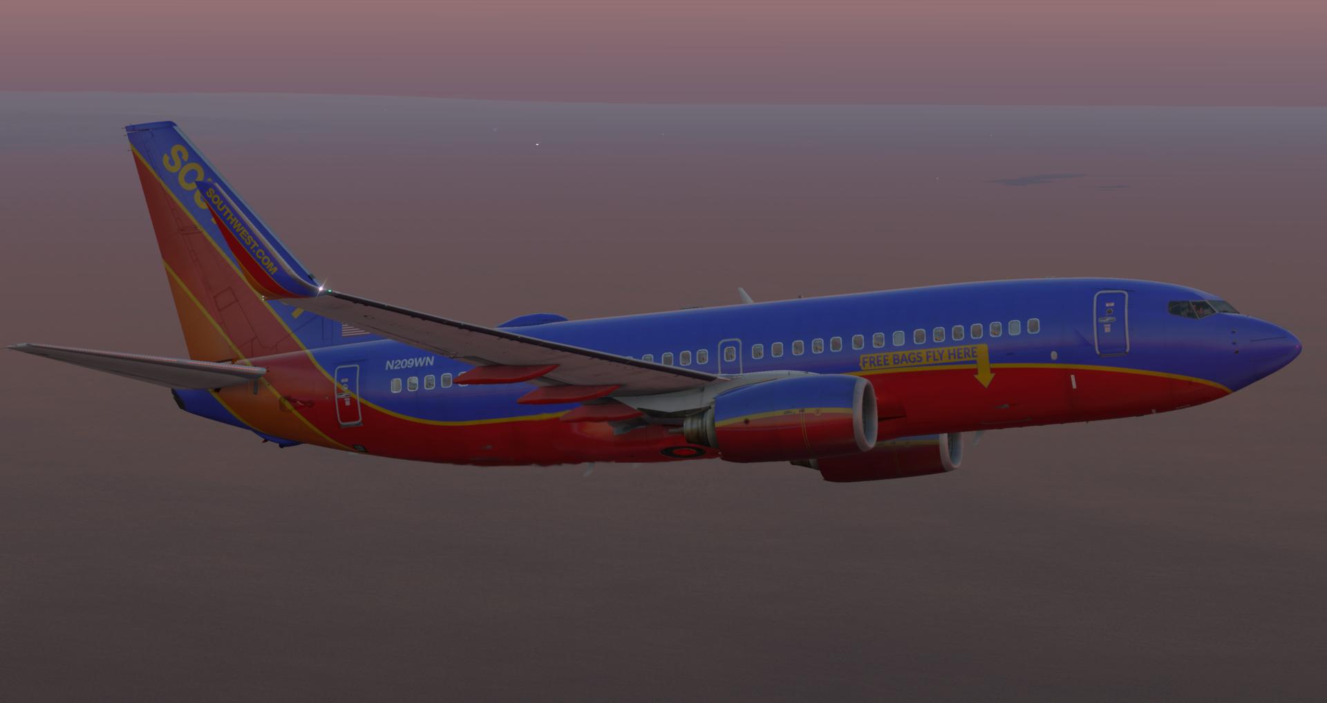 Gratis 737-700U voor X-Plane V11 30+ uitgekomen