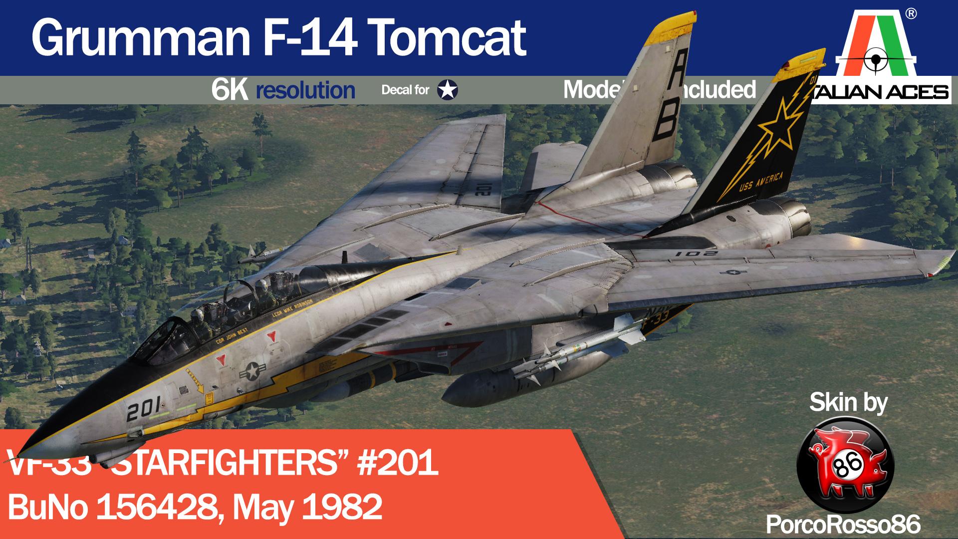 Prachtige Livery voor de Heatblur F-14 A/B Tomcat